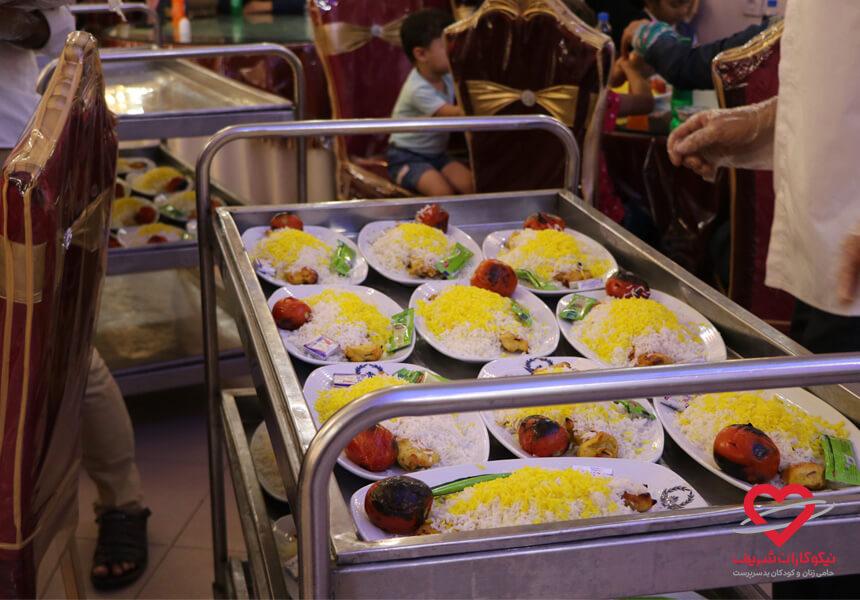 مهمانی افطاری در ماه رمضان خیریه