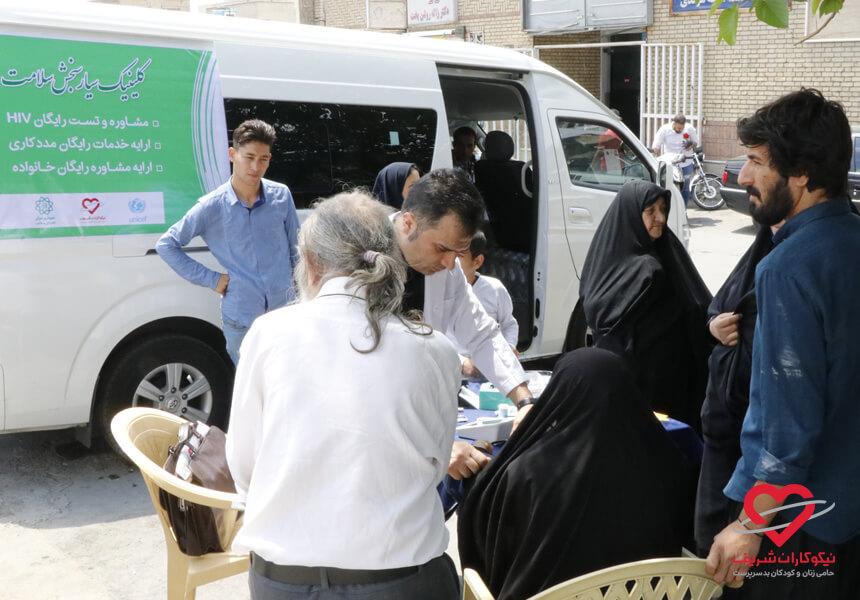 تست فشار خون موسسه خیریه نیکوکارارن شریف هفته سلامت