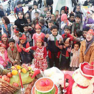 شادی مددجویان در جشن شب یلدا