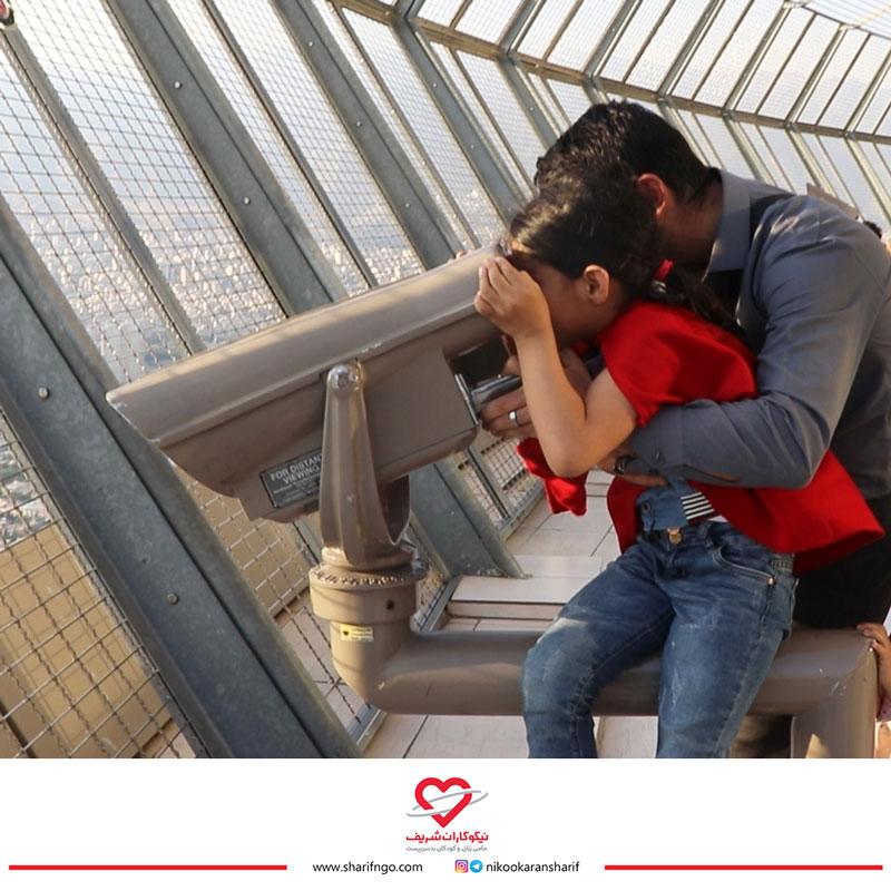 بازدید کودکان شریف از برج میلاد تهران
